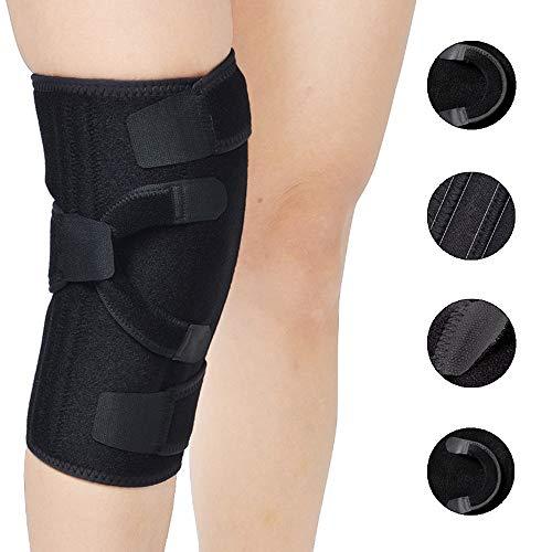 Knieorthese Unterstützung mit Scharnieren, Atmungsaktiv Offene Patella