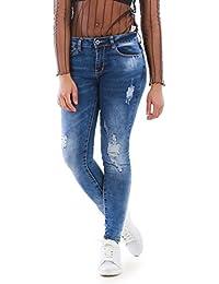 La Modeuse - Jeans délavé et déchiré