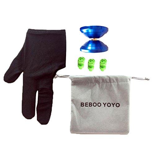 Beboo Yo Yo S1 PRO Dark Blue Aluminium Alloy Magic Yo Yo Toy with Case Glove Set Kids Gifts