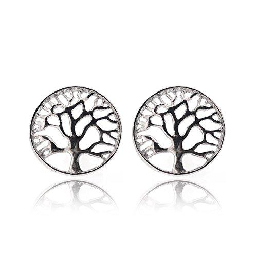 Sovats Damen Lebensbaum-Ohrring 925 Sterlingsilber