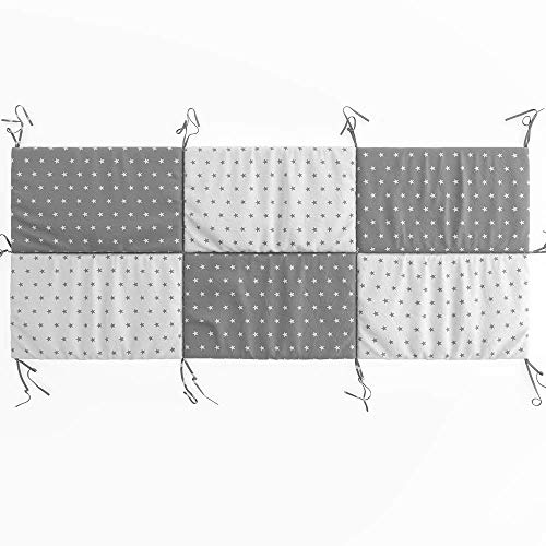 VitaliSpa Hausbett Kinderbett Bettrückwand Wiki in den Varianten: 140x70 // 160x72 // 200X85 cm erhältlich in: Rosa-Grau, Weiß-Grau und Türkis-Grau (Weiß-Grau, 85cm x 200cm)