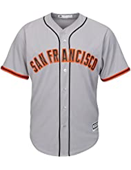 Majestic san francisco giants mLB cool base maillot road gris