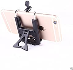 Aeoss Camera Stand Clip Bracket Holder Tripod Monopod Mount Adapter for Mobile Phone with stand New Model Black & White