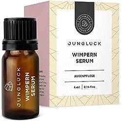 Junglück serum pour cils et repousse sourcils - pousse cils et sourcils certifié par des dermatologues - sans hormones - produit cils naturel & durable fabriqué en Allemagne - 4 ml