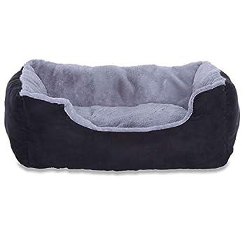 Lit chien coussin chien panier chien avec coussin taille L gris/noir