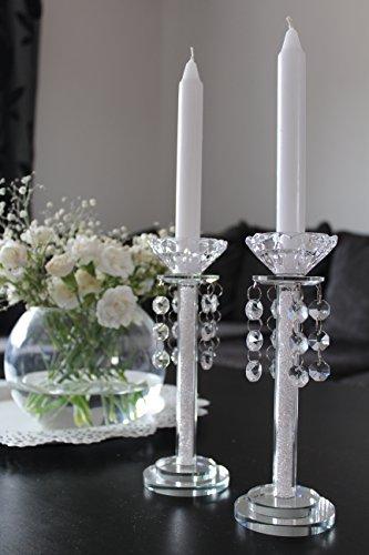 The sparkle shop portacandela cristallo stelo in set da 2con swarovski decorazione casa feste romantiche uniqe exquisite elegant centrotavola