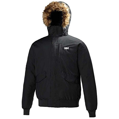 Helly Hansen Mens Dubliner Waterproof Breathable Hooded Bomber Jacket Black Black
