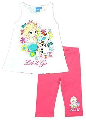 072b606c23702 Girls Disney Frozen Elsa & Olaf Sleeveless Vest Top & Leggings Set sizes  from 4 to
