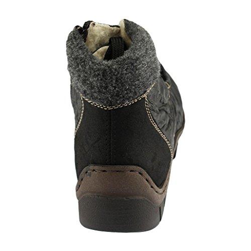 Rieker Z2322-00 donna scarpetta Nero