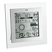 TFA 35.1121 IT Square Plus Wireless Weather Station -grey/transparent