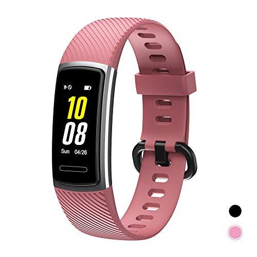 TOTOBAY Fitness Tracker, Smartwatch Wasserdicht IP68 Fitness Armband mit Pulsmesser 0,96 Zoll Farbbildschirm Aktivitätstracker Schrittzähler Uhr Damen Herren Anruf SMS Beachten für iOS Android