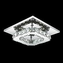 Crystal LED Montaje embutido, 1 Luz, Moderno Transparente galvanoplastia acero inoxidable