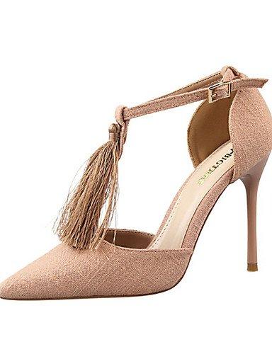 WSS 2016 Chaussures Femme-Décontracté-Noir / Bleu / Rouge / Gris / Kaki-Talon Aiguille-Talons-Chaussures à Talons-Laine synthétique red-us4-4.5 / eu34 / uk2-2.5 / cn33