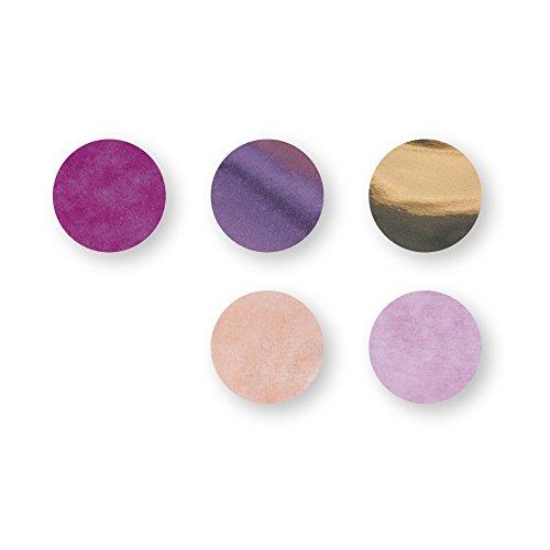 Rayher 87100000 Konfetti, ø 2cm, 30g, pink/gold/rosa, Seidenpapier, Dekoration für Geburtstag und Hochzeit, Füllung für Bubble Ballons (Pink Und Gold Dekoration)
