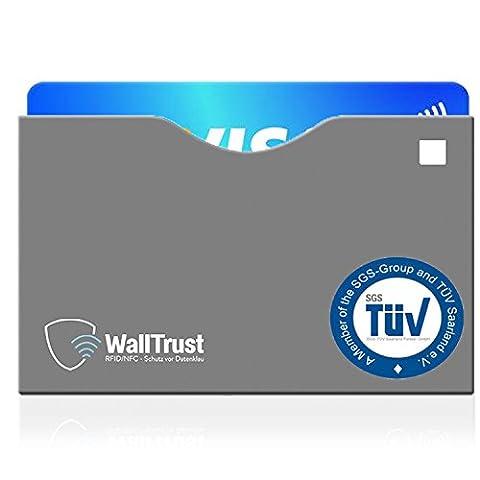 Kit d'étuis de protection blocage RFID & NFC * approuvé par le TÜV * pour cartes de crédit l passeport l cartes bancaires, contre le vol de données l lot de 10