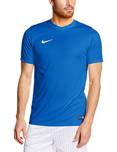 Nike Herren Kurzarm Trikot Park VI, Blau (Royal Blue/White), L (Blaue Logo-shirt)