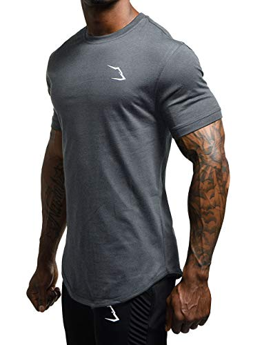 Grizzly Wear Elementary T-Shirt | Bekleidung für Gym Workout, Sport und Lifestyle (Dark Grey, X-Large)