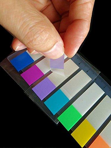 buy-safe Pagemarker transparente Haftstreifen 200 Stück 12x45mm + Lineal