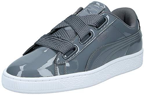 Puma Basket Heart Patent Wn's, Zapatillas para Mujer, Gris Iron Gate, 39 EU