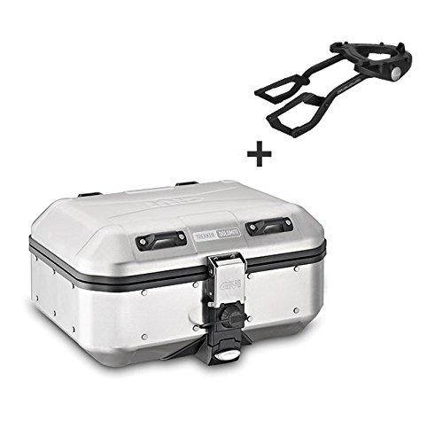 Alu-Topcase Set Honda Crossrunner 11-14 Givi Monokey DLM30A silber