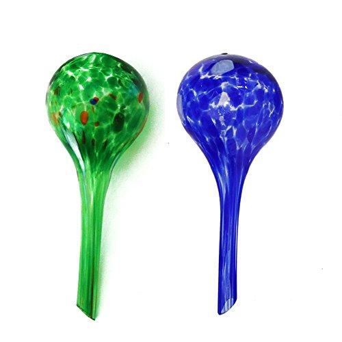 dealglad Lot de 2 globes d'arrosage automatique des plantes Boule en verre fleurs d'irrigation outil 15 x 15 x 6 cm