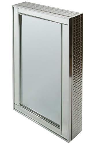 WOHNANDO Schmuckschrank Spiegelschrank Verspiegelt Edel Aufbewahrung Schmuck mit Schiebetür zum aufhängen oder aufstellen