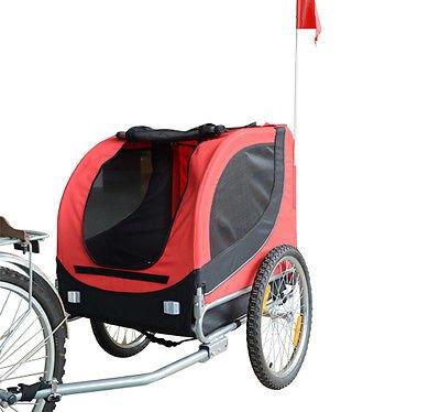 Remolque Bicicleta Perros Mascota 1 Bandera 6 Reflectores Remolque Bici...