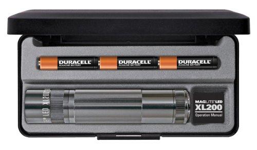 Mag-Lite LED Taschenlampe XL200, 172 Lumen, titan-grau, 12 cm mit 5 Modi und Endkappenschalter, XL200-S3097