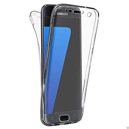 Misstars Silikon Transparent 360 Grad Hülle für Samsung Galaxy J4 2018, 2 in 1 Full Cover Vorne und Hinten Komplette Schutzhülle Ultra Dünn Weiche TPU Gel Handyhülle Stoßfest Anti-Scratch für ()
