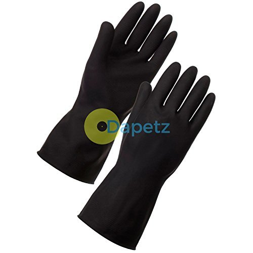 daptez-r-extended-long-sleeve-black-cleaning-gloves-xl-cleaning-car-wash-household