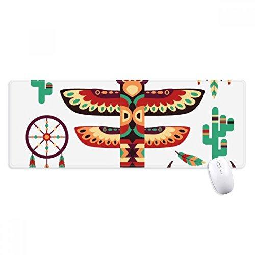 Alfombrilla de ratón antideslizante india de nativo americano atrapasueños, tamaño grande, con bordes cosidos, ideal como regalo