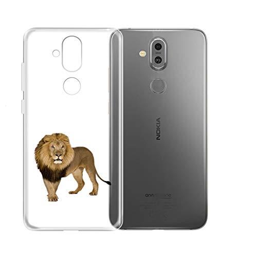 "KJYF Hülle für Nokia8.1(6.18""), Schutzhülle Bumper Hülle Cover TPU Silikon Schale Ultra Dünn Case Handyhülle Cover.[WM131]"