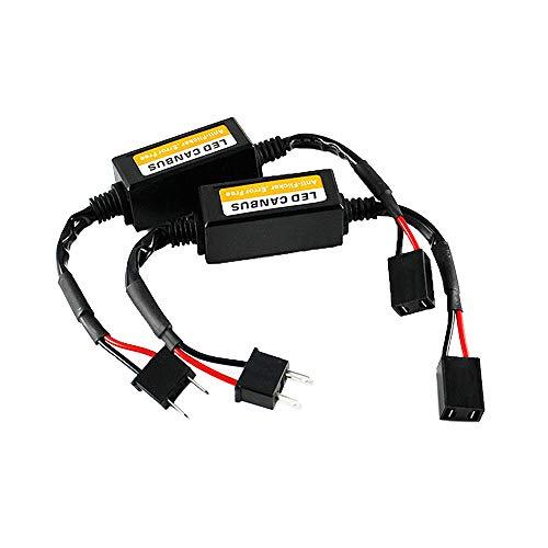 Merssavo 2 stücke 50 watt h7 led lastwiderstände anschluss fix scheinwerfer blinker lampe tagfahrlicht nebelscheinwerfer (H7 Led-nebelscheinwerfer)