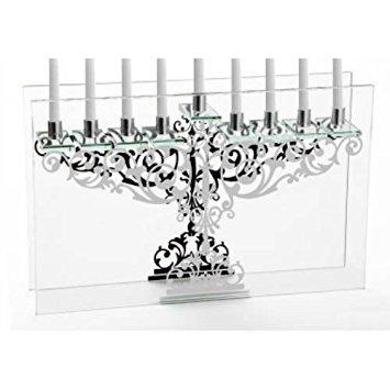 Tabelle Kandelaber (Verzierter Spiegel Tabelle Glas Menora Kandelaber)