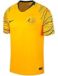 Nike Camiseta Breathe Australia Away Stadium Talla M, Color Amarillo Yema, Verde Oscuro