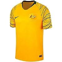 Nike Camiseta Breathe Australia Away Stadium Talla S, Color Amarillo Yema, Verde Oscuro