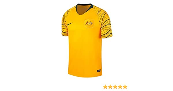 bf08898ed Nike 2018-2019 Australia Home Football Soccer T-Shirt  Amazon.co.uk   Clothing