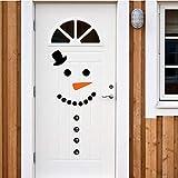 Bonhomme de neige Decal Porte d'entrée Réfrigérateur De Noël Décor Vinyle Wall Sticker Noël Wall Sticker Mignon Bonhomme De Neige Pour La Décoration de Vacances 23X8Cm