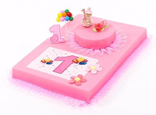 Decoración para tartas Primer Cumpleaños Niña 8piezas tarta, Primer Cumpleaños Niña Color Rosa Pastel Decorar Tartas, cumpleaños infantil