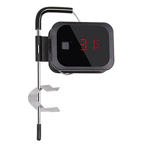 Inkbird IBT-2X Bluetooth BBQ Thermometer Barbecue Fleischthermometer Timer + Edelstahl Temperaturfühler für Grill, Ofen, Smoker (1 Sensor)