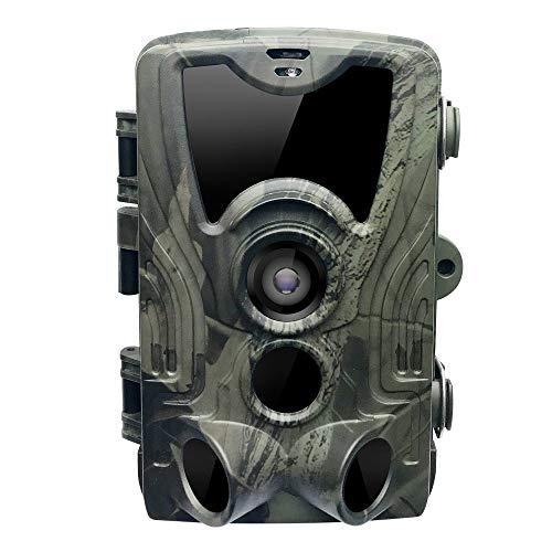 Qylt fotocamera da caccia 16mp 1080p, ip65 impermeabile fototrappola, 36 pcs 940nm ir leds macchine fotografiche da caccia, tempo di trigger 0.3s visione notturna a infrarossi 20m