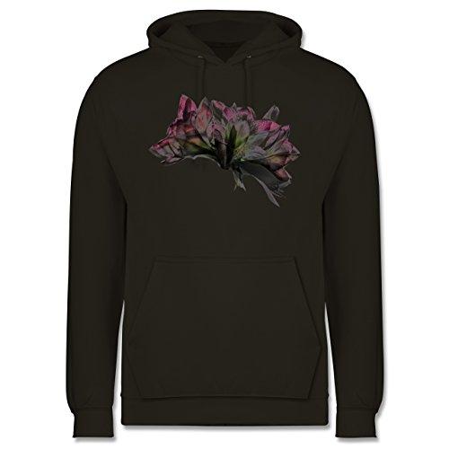 Blumen & Pflanzen - Orchidee Timelapse - Männer Premium Kapuzenpullover / Hoodie Olivgrün