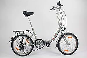 Sonder-Angebot: GermanXia Faltrad 20 Zoll COMFORT 6-Gang Shimano Silber