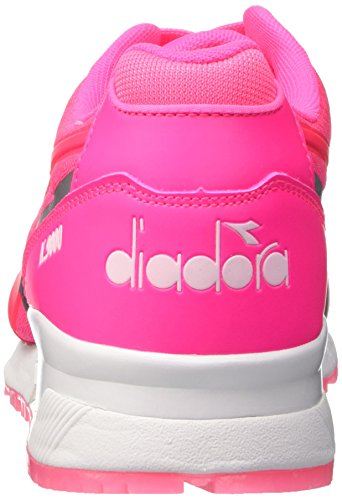 Diadora N9000 Mm Bright, Pompes à plateforme plate mixte adulte Rose - Rosa (97006 Rosa Fluo(97006))