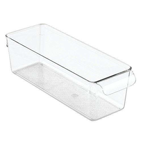 Kleine Küche-kühlschrank (InterDesign Linus Aufbewahrungsbox, kleiner Küchen Organizer aus Kunststoff mit Griffen, durchsichtig)