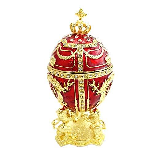 Dadahuam Handgemaltes Vintage-Stil und Blumen Faberge-Ei mit reichem Email und funkelnden Strasssteinen -