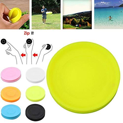 Tradtrust Silikon Flugscheibe, Frisbee Mini Pocket Flexible Soft New Spin Fangspiel Flugscheibe Spielzeug, für Strandspiele im Freien (Hellgrün)