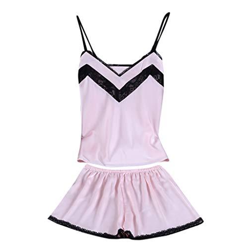 Linkay Damen Nachthemden Dessous Schlafanzugoberteile Bequem Zuhause Schlafanzughosen Kurzes Nachtwäscheset Pyjama Gesetzt Mode 2019 (Rosa, X-Large) - Navy Plaid Flanell Pyjama-hose