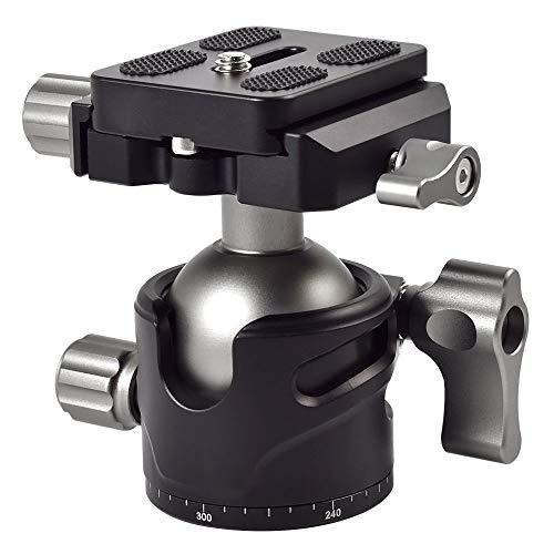 MENGS® BH-36 Panorama Kugelkopf mit 360 ° drehbar Klammer + Schnellwechselplatte für DSLR Kamera Camcorder und Tirpod Kopf max. Belastung 10KG
