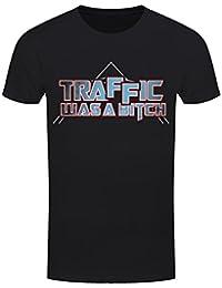 T-Shirt Traffic Was A Bitch Homme Noir